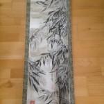 Bambus med sne