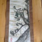 Kakejiku: Fyrretræ med fugl