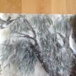 Piletræ med sne