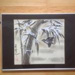 Bambus med sné
